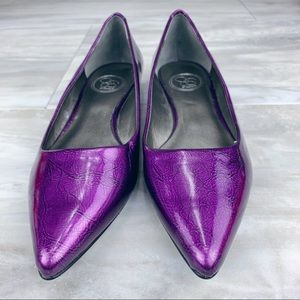 Jessica Simpson Purple Patent Pointy Toe Flats 7.5